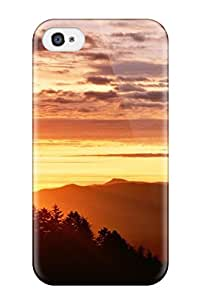 New Arrival Bright Sunset Clouds Forest Amp Digital For Iphone 4/4s Case Cover