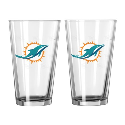 NFL Miami Dolphins Boelter Pint Glass 2-pack