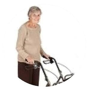 alfombrilla de ratón Mujer mayor con el caminante - ronda - 20cm