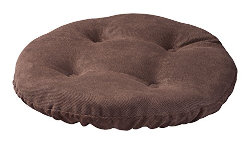 Twillo Bar Stool Seat Cushion - Tufted Round Stool Cover Non-slip Seat Cushion - Padded for Comfortable Sitting - 13 Inch Brown