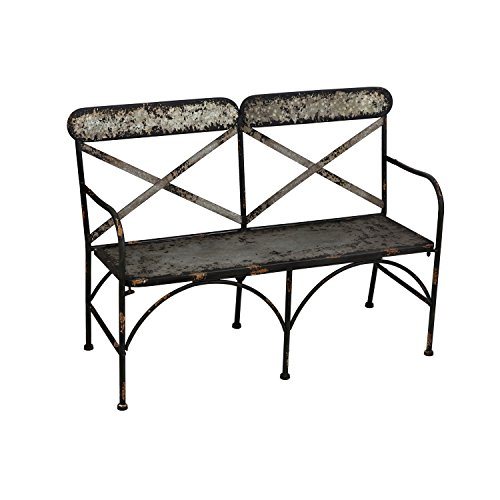Evergreen Table (Cape Craftsmen Galvanized Metal Double Chair Outdoor Safe Metal Garden Bench)