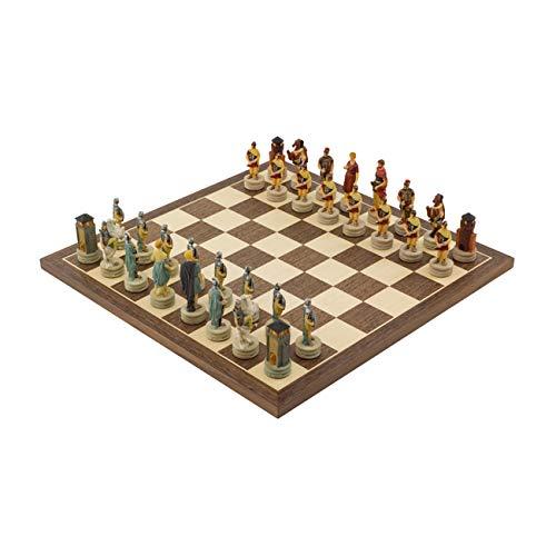 - Regencychess The Romans Vs Greeks Hand Painted Chess Set by Italfama