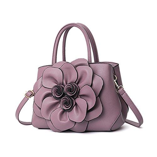 Violet Nuovo Nera Stile Tracolla Singola Borsa Moda Manico Fiori A Gwqgz FB4IcZv4