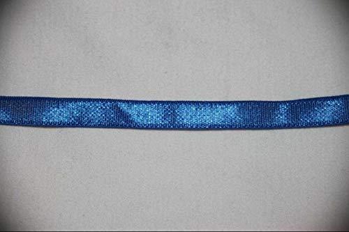 2 Yards Cobalt Royal Blue Stretch Satin Lingerie Sewing Elastic 3/8