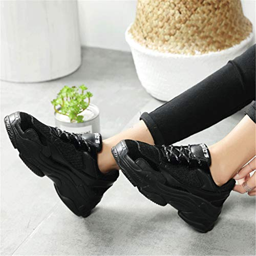Running Red Shoes Autumn Trainers Spring Shoes Outdoor Walking Qianliuk Womens Black Sneakers Female 0nwcqEOc4R