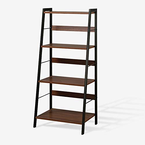 Wooden plant stand YSTShelf Storage Storage Simple Shelf Creative Flower Shelf Multi-layer Bookshelf Clapboard Display Stand E1 Plate Carbon Steel Floor Shelf Indoor and outdoor decorative frame