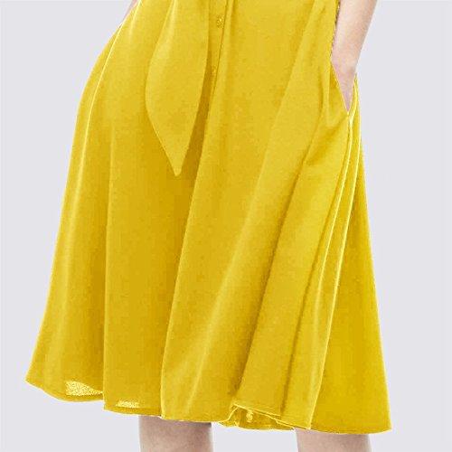 d't Robes Taille Yellow mi Jupe Robe Robe XL MiGMV 2018 Chemise Nouvelles Femmes Longueur la de wqFUI5dxSn