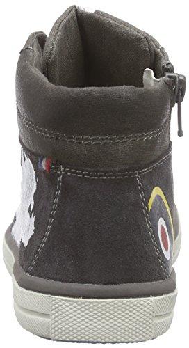 Lurchi Spike - zapatillas deportivas altas de cuero niño Grau (charcoal 45)