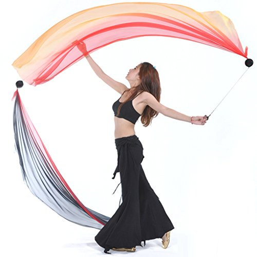 MagiDeal Thrown Balls for Professional Hip-hop Belly Dance Level Hand Props with Comfortable Finger Loops by Unknown