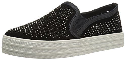 Skechers Women's Double up-Diamond Girl Fashion Sneaker,Black,8 M US ()