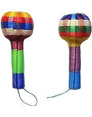 2 Sonajas Artesanales para Bebe Tradicional Maraca Mexicana Indolora Juguete Suave de Estimulación Temprana - Ideal para Regalo de Baby Shower o Cumpleaños como juguete de Bebé de 1 a 3 Años