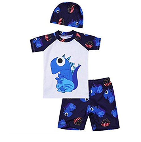iEFiEL Kids Boys 3PCS Swimsuit Rashguard Top