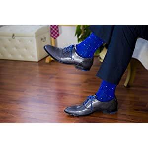 HUGH UGOLI Men's Dress Crew Socks Seamless Bamboo Business Casual 4 Pairs