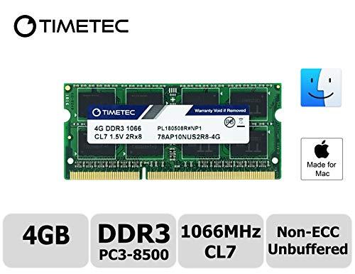 1066 Mhz Dual Channel - Timetec Hynix IC Apple 4GB DDR3 PC3-8500 1066MHz Memory Upgrade for iMac 20 inch /21.5 inch/24 inch /27 inch, MacBook Pro 13 inch/ 15 inch/ 17 inch, Mac Mini 2009 2010 (4GB)