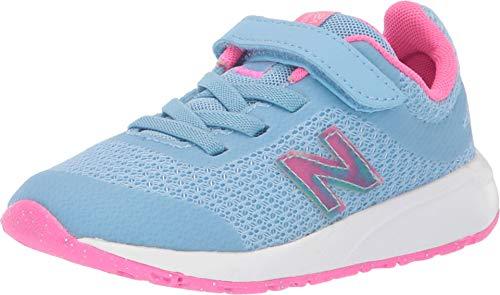 New Balance Girls' 455v2 Running Shoe, Summer Sky/Light Peony, 10 M US Toddler
