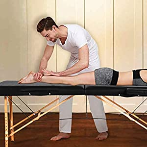 Massage Table Massage Bed Spa Bed 73 Inch Heigh Adjustable 2 Fold Portable Massage Table W/Sheet Cradle Cover 2 Bolster Hanger Facial Salon Tattoo Bed