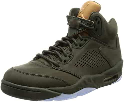 f3a877e8f35a62 Jordan Men Air Jordan 5 Retro Premium Sequoia Sequoia-Metallic Gold