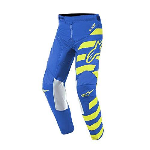 Alpinestars Youth Racer Braap MX Pants 26 inch Blue Yellow Fluo