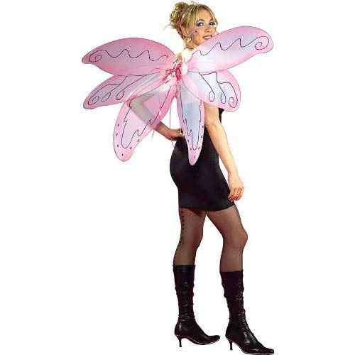 Rubie's Unisex-Adult's Standard Pixie Wings, Pink, One Size