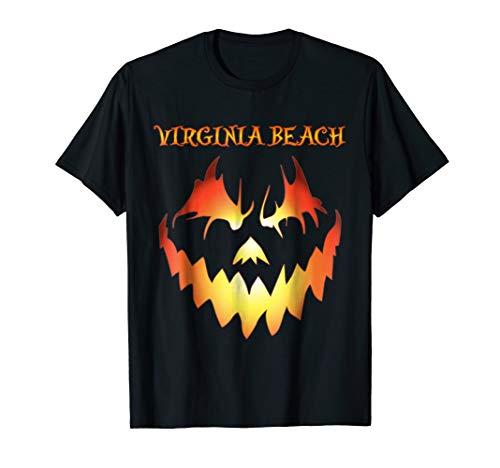 Virginia Beach Jack O' Lantern Pumpkin Halloween Shirt