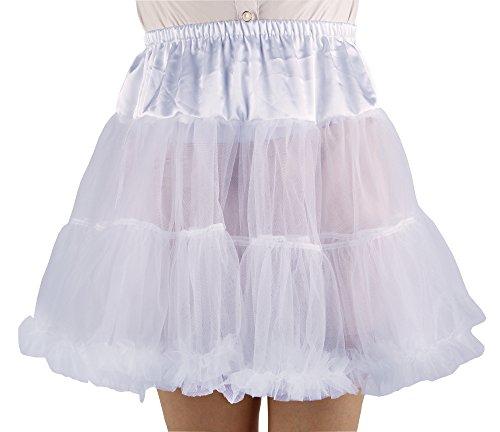 Shimaly Women's Princess Layered Puff Skirt Mini Tutu Skirt Short Petticoat (L-XL, White)