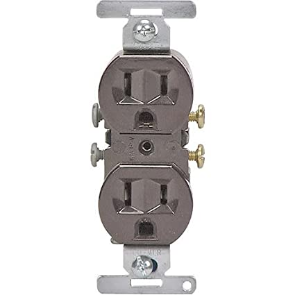 cooper wiring 5270b bu 3 wire brown duplex receptacles, 125 volt receptacle wiring diagrams made simple cooper wiring 5270b bu 3 wire brown duplex receptacles, 125 volt