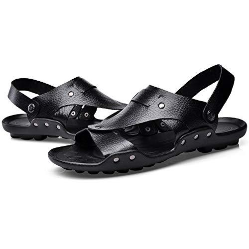 spiaggia CM pantofole Sandali Sandali Nero 0 Wagsiyi 24 Sandali 0 27 Uomo Summer Pelle Traspiranti Scarpe Da da In Antiscivolo UqwZRg