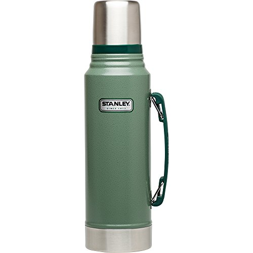 Wide Mouth Insulated Carafe - Stanley Classic Vacuum Bottle 1.1QT Hammertone Green