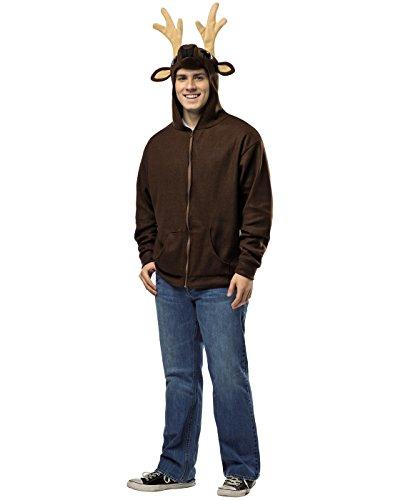 Deer Hoodie (Rasta Imposta Men's Deer Hoodie, Brown, X-Large)