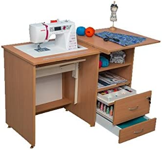Comodidad Junior | máquina de coser escuela armario Hobby Craft mesa | Lakeland acacia light: Amazon.es: Hogar