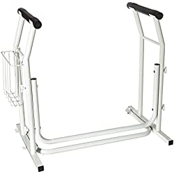Rose HealthCare 1045 Commode Safety Rail with Weight Limit, 300 lb.