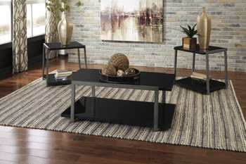 Ashley Furniture T326-13 Rollynx 3 Piece Occasional Coffee Table Set ()