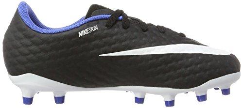 Nike Jr. Hypervenom Phelon 3 FG, Zapatillas de Fútbol Unisex Niños Negro, Blanco