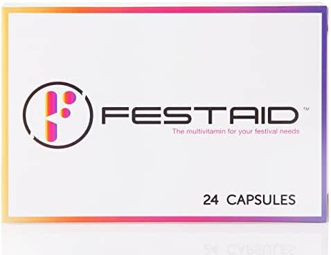 Festaid Rave Hangover Protection Pills - Music Festival Essentials, Pre Party Supplement, Prevent Rave Comedown