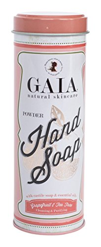 (Gaia Natural Cleaners Castile Powder Hand Soap with Grapefruit and Tea Tree Essential Oil)