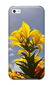 Hot New Lily Flowers Case Cover For Iphone 5c With Perfect Design