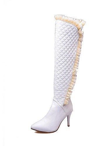 Xzz La Negro Stiletto Moda us5 Tacón us8 Uk3 Puntiagudos A Mujer Eu39 Semicuero Botas Blanco Uk6 White Eu35 White Casual Vestido De Cn39 Cn34 Zapatos rxqzAw8r