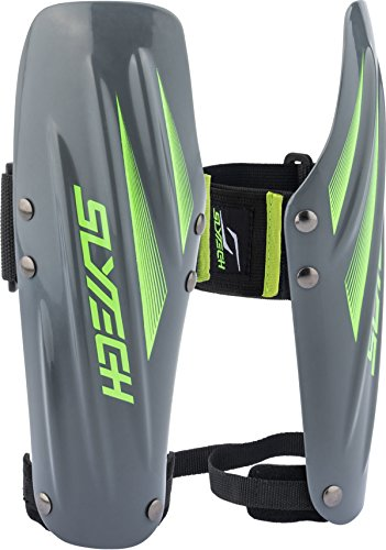 30 Mm Neon Green (Slytech Ski Racing Arm Guards, Plastic Arm Guards, Forearm Protection, Ski Stealth, Ski Racing Protection, Gray/Neon Green, Small)