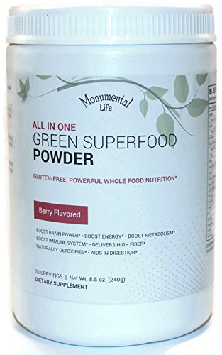 Green Superfood Powder by Monumental Life. Green suppleme...