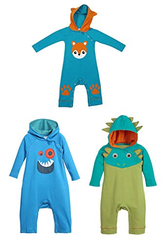 0006308017dd stylesilove Infant Toddler Baby Boy 3D Long Sleeves Hoodie Costume Romper