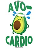 img - for Notebook: Avocardio 110 page (8.5 x 11 inch) Large Composition Book, Journal and Diary for School, Taking Notes, Writing, Being Productive and More! (: 8.5 x 11 Lined Journals) book / textbook / text book