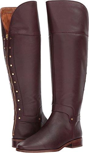 Franco Sarto Women's Roxanna Knee High Boot, Dark Burgundy, 8.5 Medium (Burgundy Leather Boot)