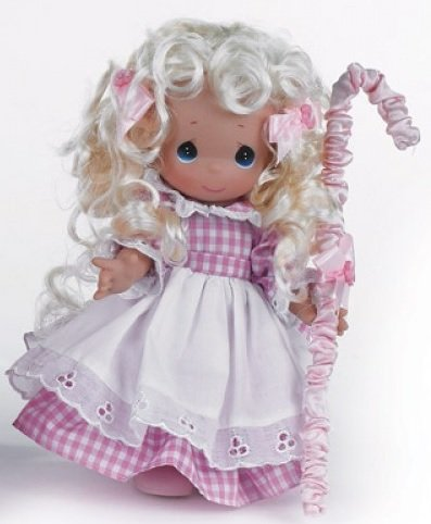 Artist Collectible Dolls - The Doll Maker Precious Moments Dolls, Linda Rick, Lil' Bo Peep, 9 inch Doll