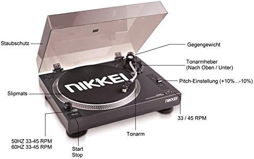 Nikkei NTT05U - Tocadiscos (vigencia de 22 cm, USB, accionamiento ...