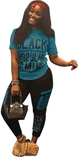 06842840a6c Womens Sexy 2 Piece Sports Outfit Set Shirt Bodycon Pants Joggers Clubwear  Tracksuit Sportswear Set