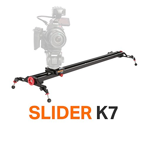 Konova Camera Slider Dolly K7 80cm (31.5 Inch) Track Aluminum solid rail roller bearing for smooth slide for Camera, Gopro, Mobile Phone, DSLR, ENG Payloads up to 77bs (35kg) with Bag by KONOVA
