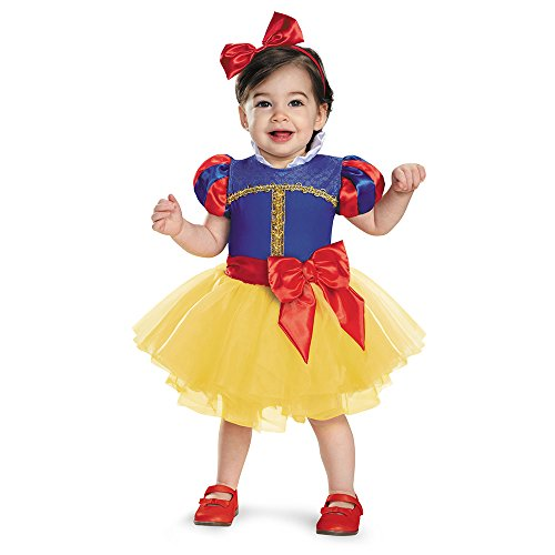[Disguise Baby Girls' Snow White Prestige Infant Costume, Multi, 6-12 Months] (Princess Costumes For Babies)