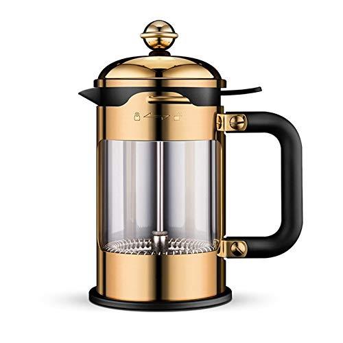 HEYU-Moka Cafetera a presión Francesa, Olla de café exprés de la ...