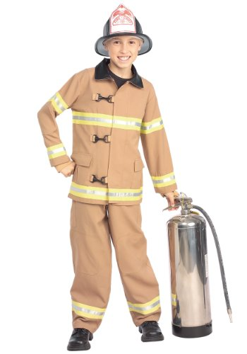 [Young Heroes Child's Fire Fighter Costume, Large] (Fireman And Fire Woman Costume)