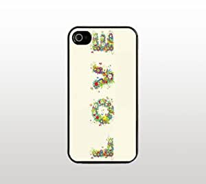 Love Design iPhone 5 5s Case - Hard Plastic Snap-On Custom Cover - Black - Floral Art by icecream design